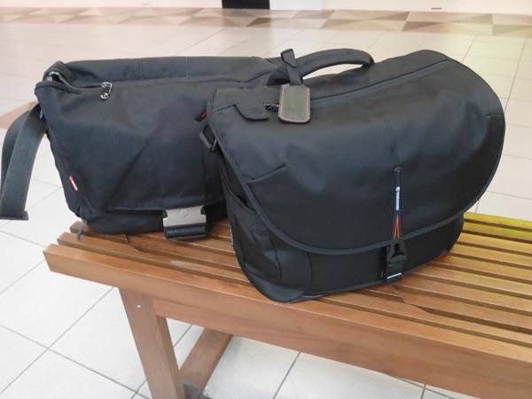 手前のVANGUARD ショルダーバッグを購入。値段は日本と同じくらい